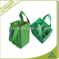 pp nonwoven 6 bottle wine bag with dividers