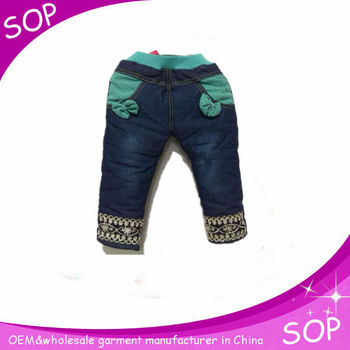 Toddlers clothing denim jeans cotton kids elastic new born baby girls pants