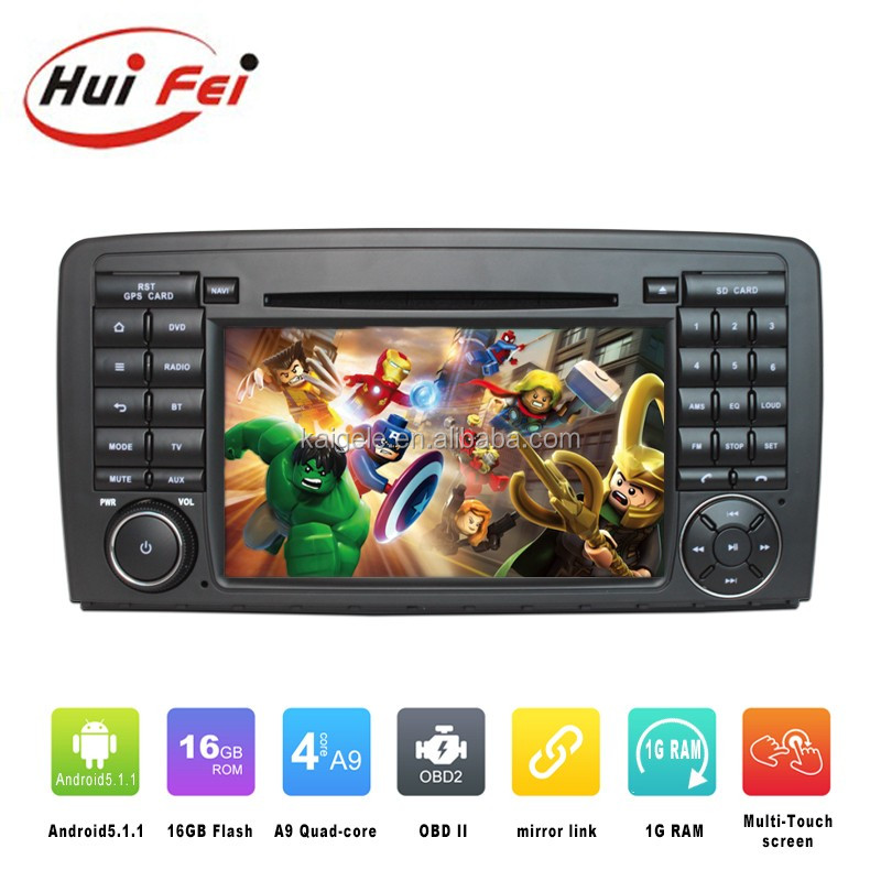 Huifei Android5.1 Quad Core DVD player for mercedes-benz r class w251 with mirror link,GPS,Radio function
