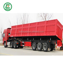 China 3 Axles 60 Tons New Side Tipper Semi Trailer with Hydraulic Cylinder