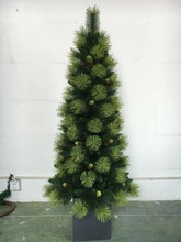 factory make yellow needle wood salver artificial christmas tree