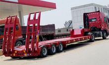 New Excavator 50ton Low Bed Truck Trailer Price For Sale