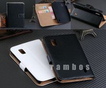 Wallet Flip Luxury Genuine Leather Phone Cover Case for Google Nexus 4 for LG E960 with 2 Credit Cards Holder