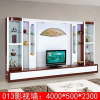 Latest arrival plasma design led tv wall units 013# cheap tv wall unit