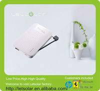 2014 China factory handphone portable charger power bank with built in usb cable LP58S