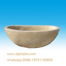 Well Polished Natural Stone Carving Bathroom Tub