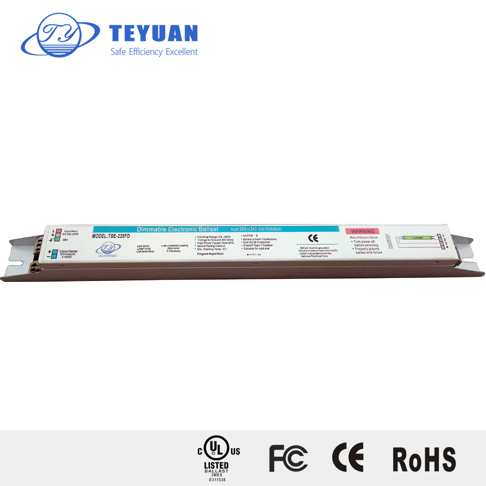 t5 dali dimmable electronic ballast