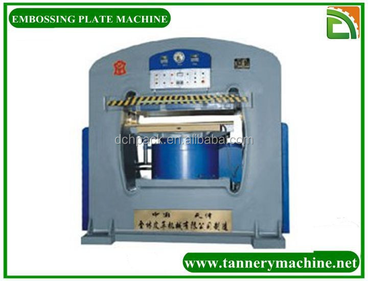 leather manual embossing machine for skin hide