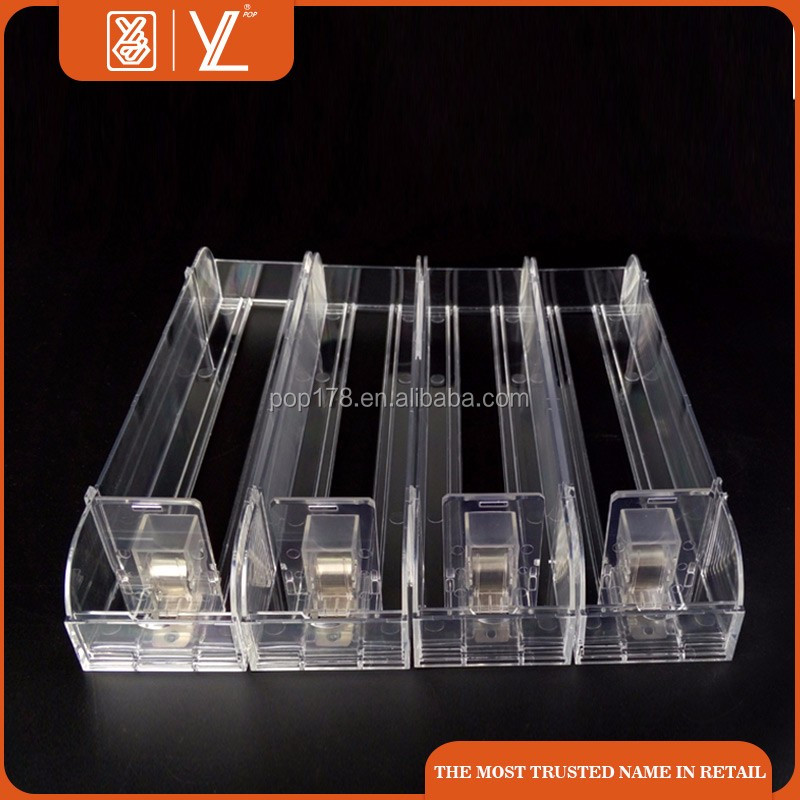 Wholesales Plastic Cigarette Pusher Display Rack For Supermatket