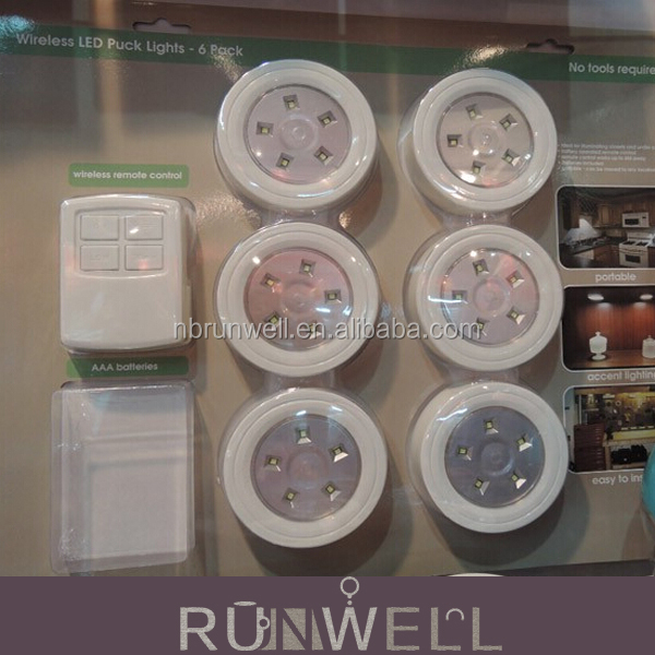 China supplier wireless remote controlled battery operated cabinet led light