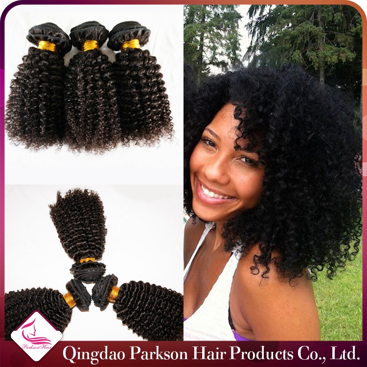 High quality natural unprocessd virgin hair factory cheap peruvian remy human hair kinky curly weave