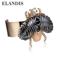 E-ELANDIS The New Alloy Jewelry Wholesale Exaggerated Opening Insects Bracelets