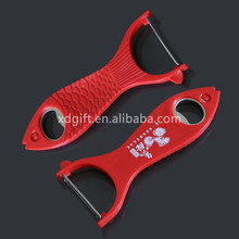 nice and cheap promotion multi-function fish shape plastic bottle opener