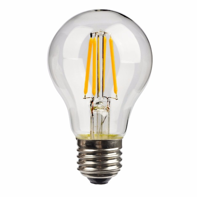 A19 A60 dimmable led filament bulb 120V 230V filament bulb lamp E27 E26 led edison bulb 4W 5W 7W