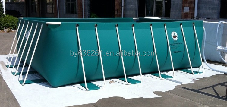 Flexible Plastic Fish Pond For Fish Farm,Outdoor PVC Swimming Pool,Rectangular Pool