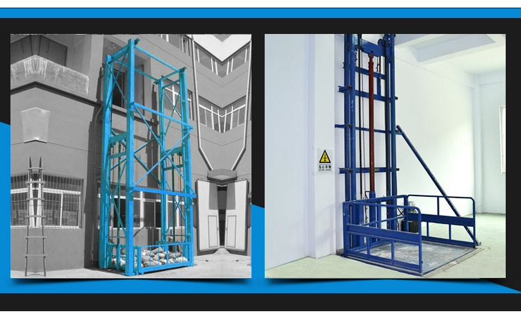 vertical hydeaulic goods elevator for warehouses,library and shopping mall