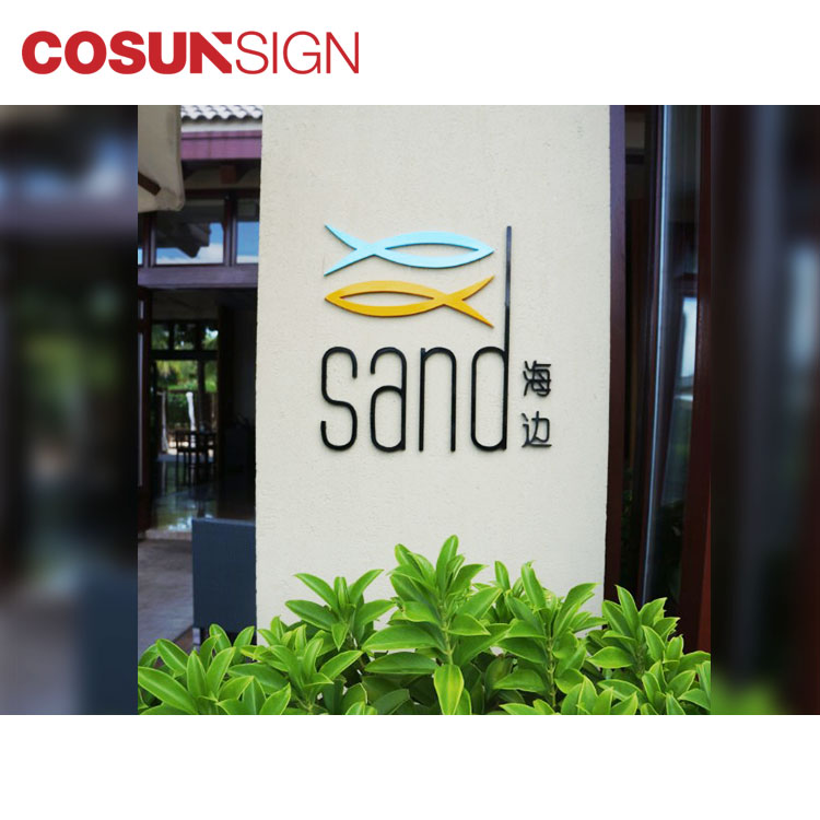 Powder coated Painted 3D metal letters sign Indoor signs banking and financial institution signs