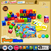 Big promotion! Hot Selling math&figure block toys plastic cube building block puzzle design