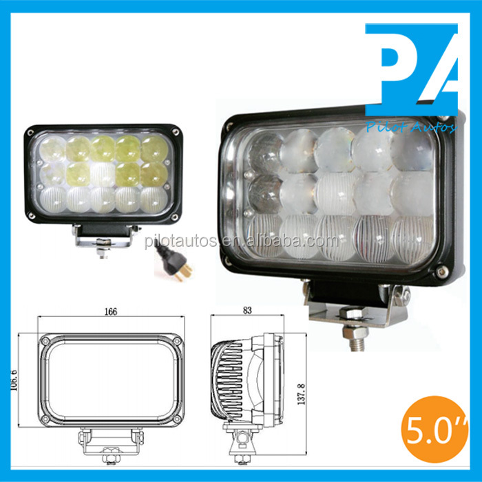 "Spot Flood Combination 45W 5.0"" inch Driving Light For ATV SUV off road 4x4 heavy equipments Truck Jeep Motorcycle Boat 3745"