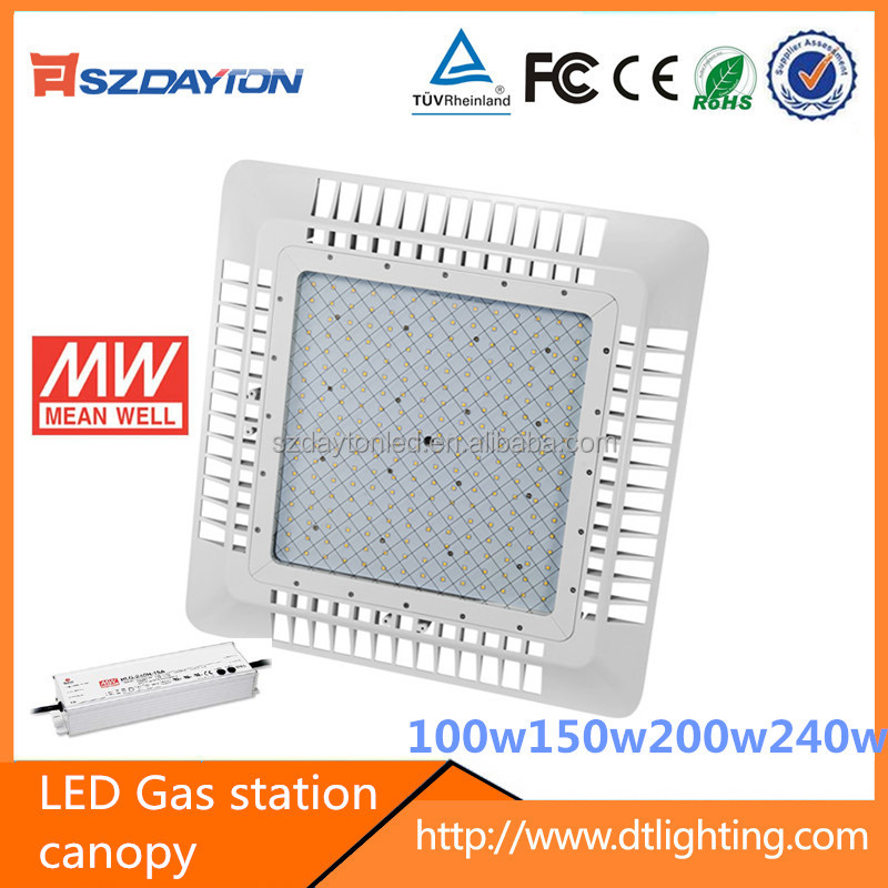 CE TUV ROHS High lumen led gas station canopy lights,led gas station light,100w 150w gas station led canopy lights ies