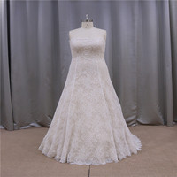 Real photos latest lace appliqued dream of red wedding dress