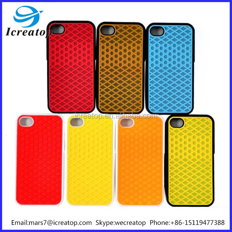 high quality hard plastic mobile phone case for iphone4