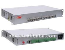 16 Channel Video Fiber Optic Transmitter and Receiver for energy resource surveillance system