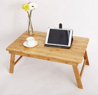 bamboo wooden folded laptop bed computer table For Laptop PC Tablet