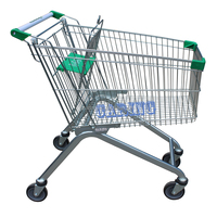 Supermarket and retail store used 125 Liter Euro style Anti-theft shopping trolley