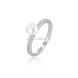 Factory price 925 italian silver ring for women o ring beautiful pearl ring