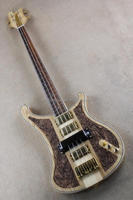 Weifang Rebon 4 string neck through body hand carved electric bass guitar with good quality