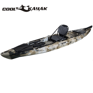 China 13 foot Angler Sit On Top Fishing Kayak with Paddles and Upright Chair and Rudder System Included