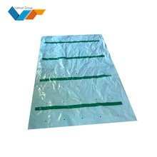 UV stable ldpe white-blue banana bunch cover bag