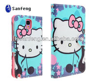 Custom Printed Hello Kitty Leather Case For Samsung Galaxy Note 3 N9000
