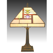 Square shade art deco Tiffany Lamp