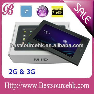 The newest and high quality 7 inch Android tablet pc 3G with build in Sim Card slot, Phone Calling