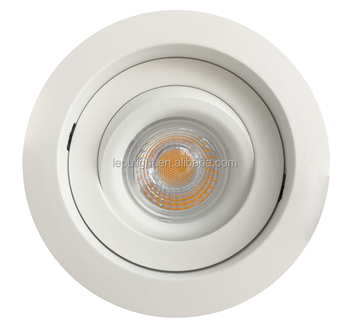 IP44 CCT adjustable dimmable lens led downlight with sharp cob led gyro style 360 angle tilt