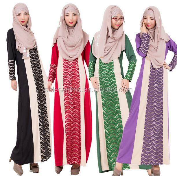 New arrival muslim maxi dress fashion baju kurung modren islam women clothing