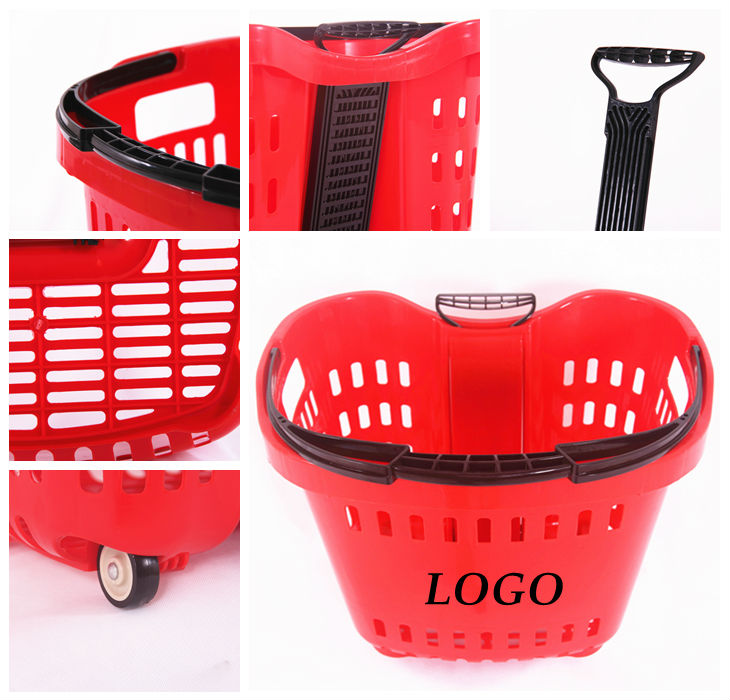 Long Handle Plastic Laundry Basket With Wheels Buy