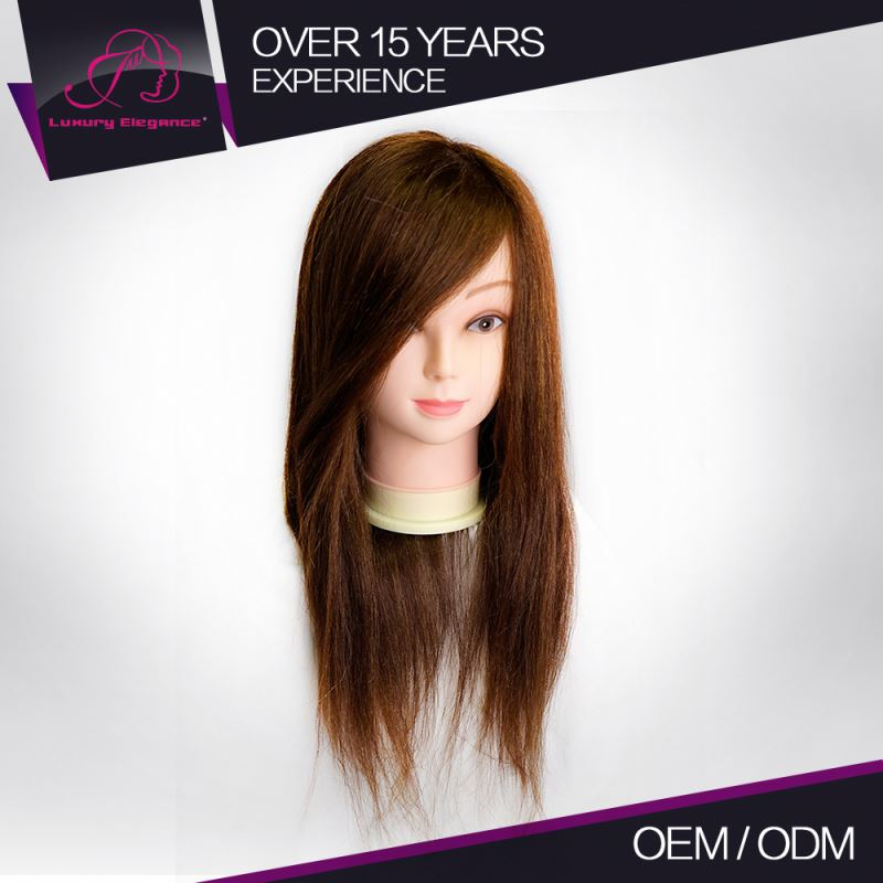 Factory Price Highest Level Custom Made Smooth&Silky Training Head For Hairdressers For Graduate Test