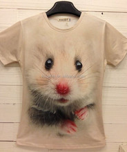 full printing custom 3d animals t shirt wholesale mouse design t-shirts