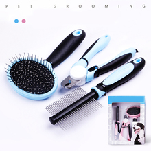 Pet Care and Grooming Kit with Comb, Brush and Nail Clipper for Dog and Cat