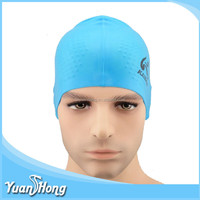 Silicone material made swiming tools hot selling adult swimming cap