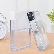 Hot sell portable plastic notebook <strong>flat</strong> transparent water bottle