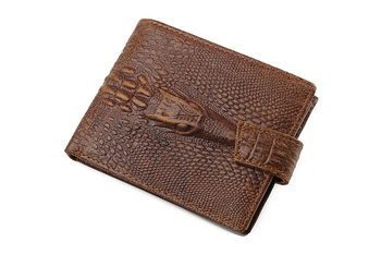 Jinbaolai cowhide leather crocodile men wallet 2016