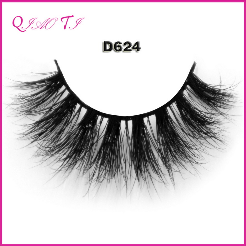 Highest quality pure handmade reusable cruelty free 100% mink fur free false eyelashes samples