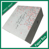 CUSTOM FOLDING NEW STYLE GIFT PACKAGING BOX WITH PINK COLOR