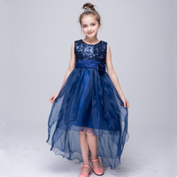 New design children clothes slim formal girls party dresses for 2-12 years old