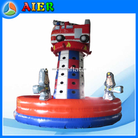 Fire engine inflatable rock climbing, inflatable climbing wall, kids rock climbing walls