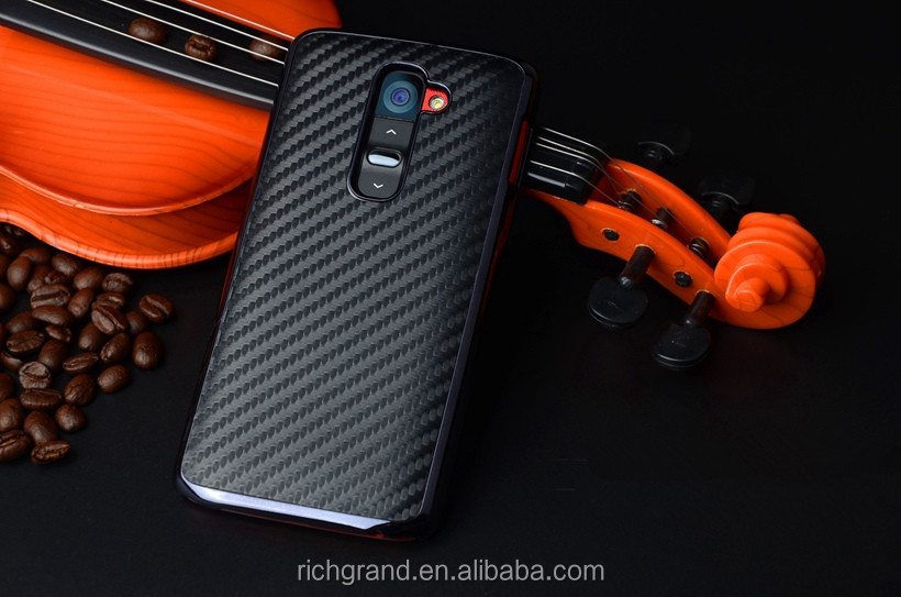 for LG G2 D802 Carbon Fiber Pattern Hard Plastic Mobile Phone Protective Case Covers